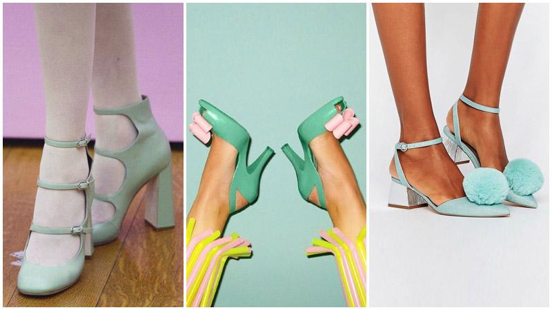 Zapatos de color menta