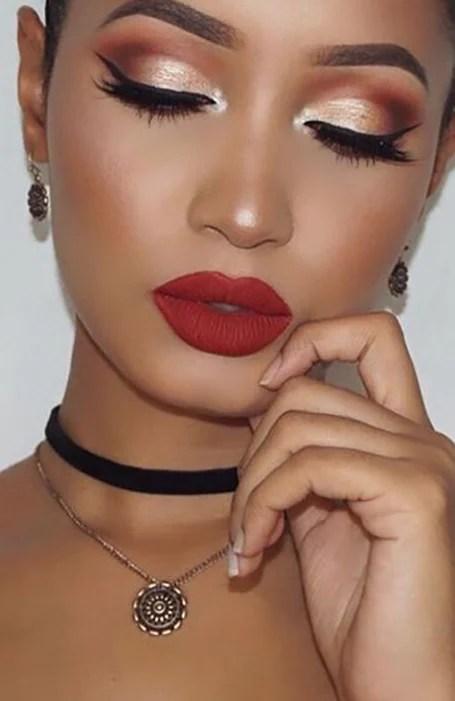 red dress eye makeup look