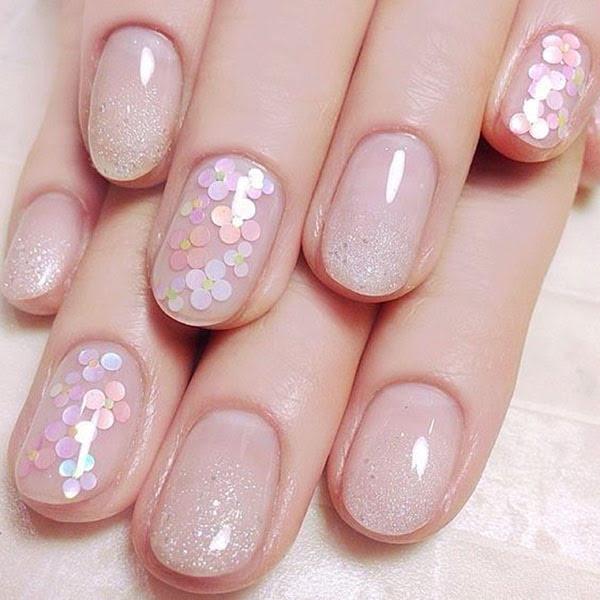Cute Glitter Nails