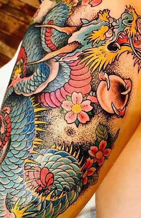 Dragon Koi Tattoo