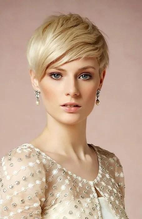 Short Slick Bridal Hairstyle