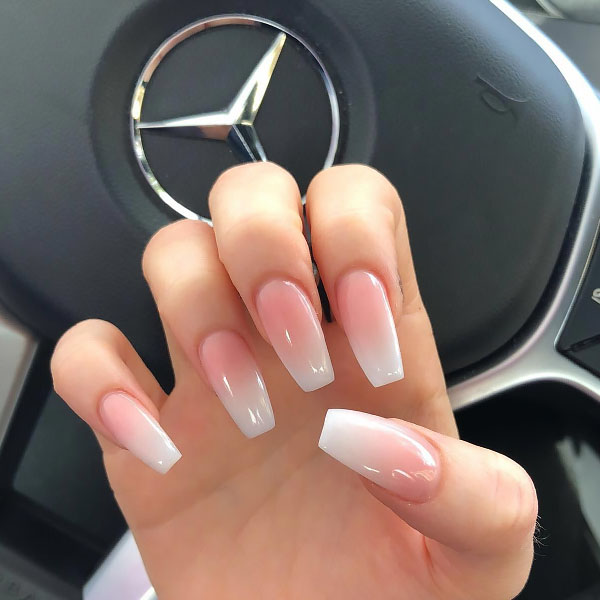 Luxury Ombre Coffin Nails