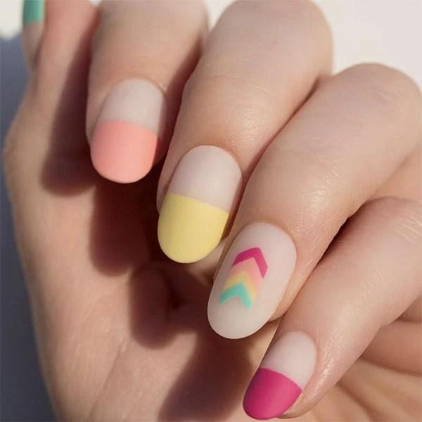 Oval Matte Acrylic Nails