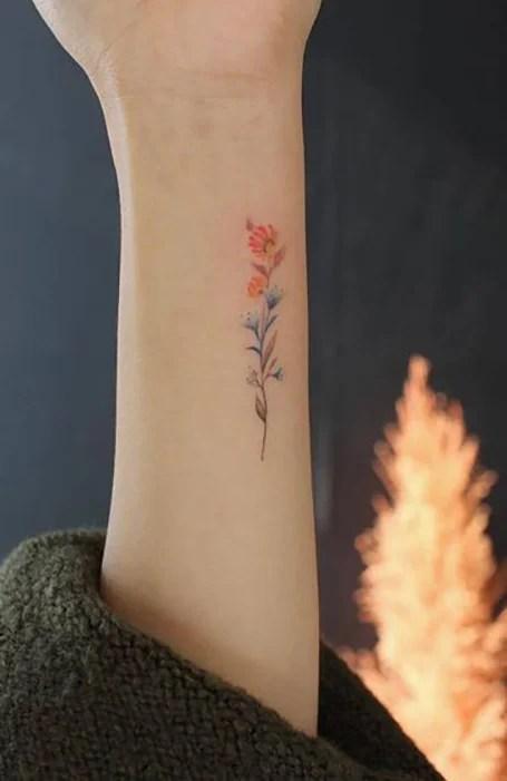 Dainty Flower Tattoo