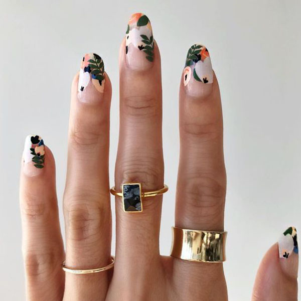 Nature Inspired Nail Art Design