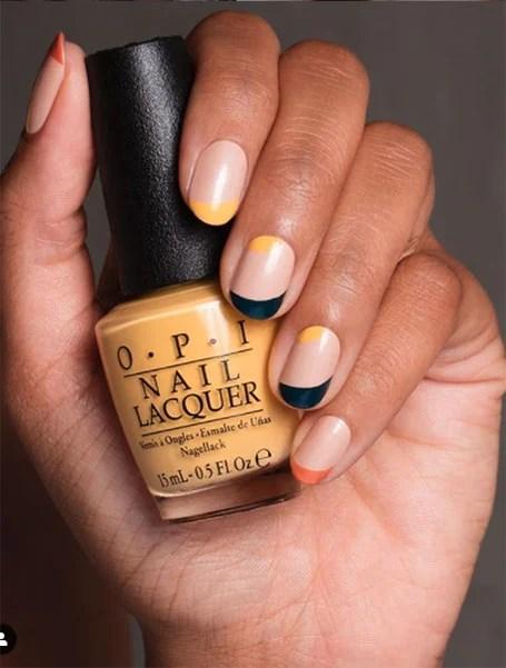 Minimalist Yellow Nails