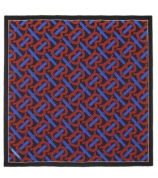 Burberry Monogram Cotton And Silk Scarf