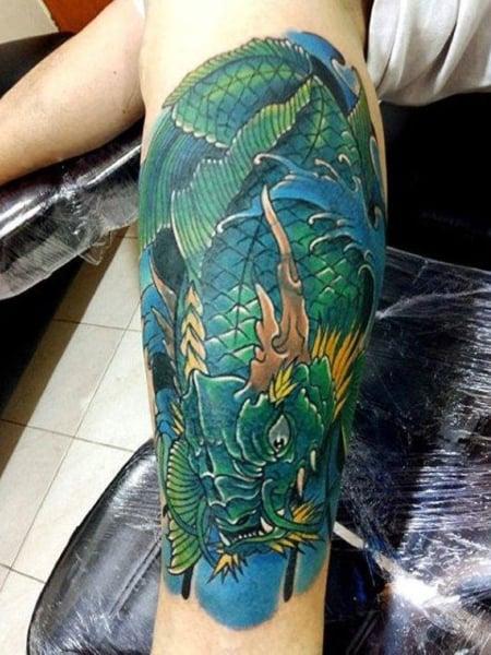 Dragon And Koi Fish Tattoo