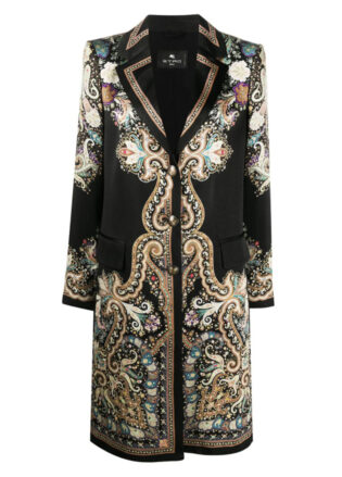 Etro Satin Paisley Print Coat