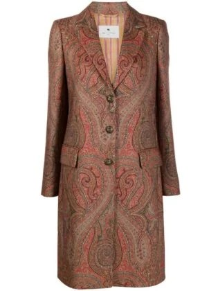 Etro Paisley Single Breasted Coat