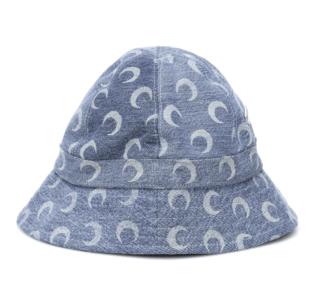 Marine Serre Printed Recycled Cotton Denim Bucket Hat