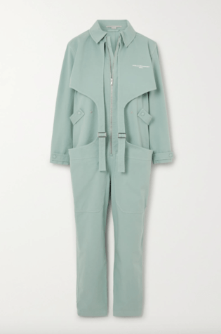 Stella Mccartney Buckled Printed Stretch Cotton Jumpsuit