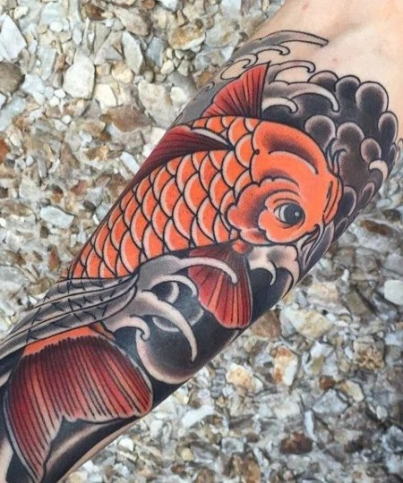 Traditional Japanese Koi Fish Tattoo