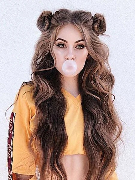 Space Buns With Loose Hair