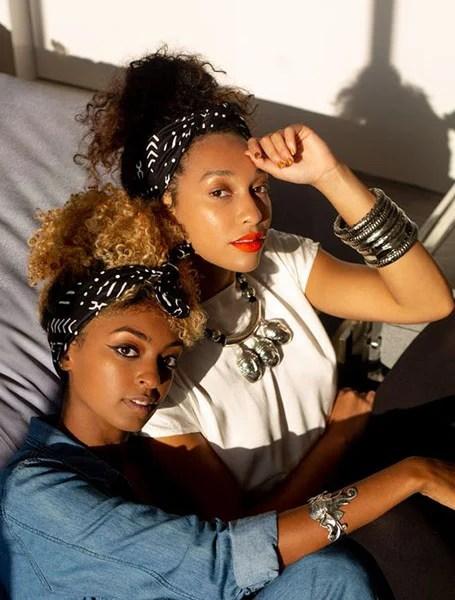 Bandana Updo With Natural Afro Hair