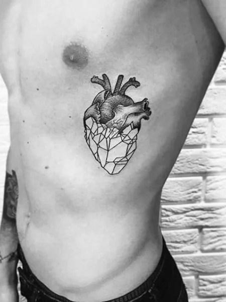 Heart Rib Tattoo