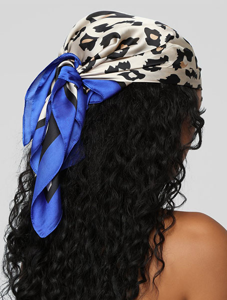 Tied Back Bandana With Natural Afro Hair