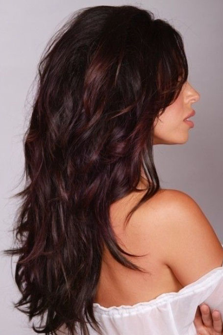 Brown Hair With Burgundy Highlights