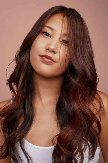 Burgundy Brown Hair