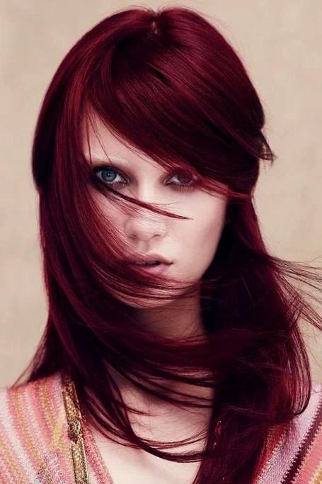 Dark Burgundy Maroon Hair