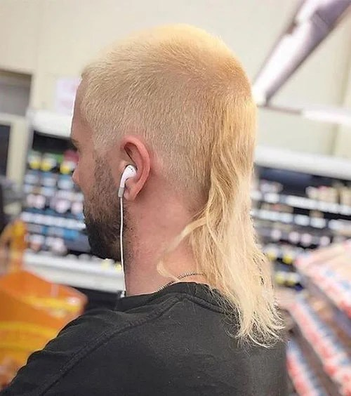 Skullet With Bleached Hair