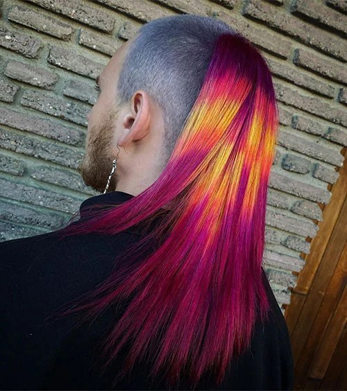 Skullet With Rainbow Colored Hair