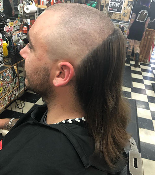 Skullet With Straight Hair