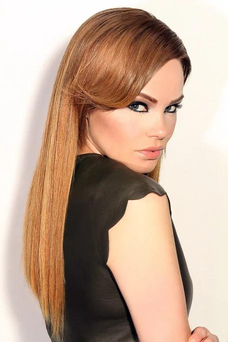 Sleek And Straight Strawberry Blonde Hair