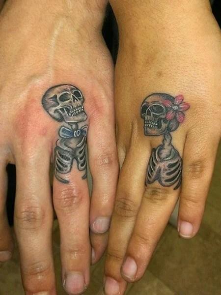 Small Skeleton Hand Tattoo
