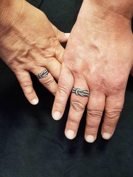 3d Wedding Ring Tattoo