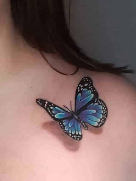 Blue 3d Tattoo