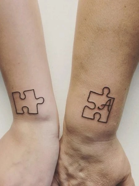 Sibling Puzzle Tattoo