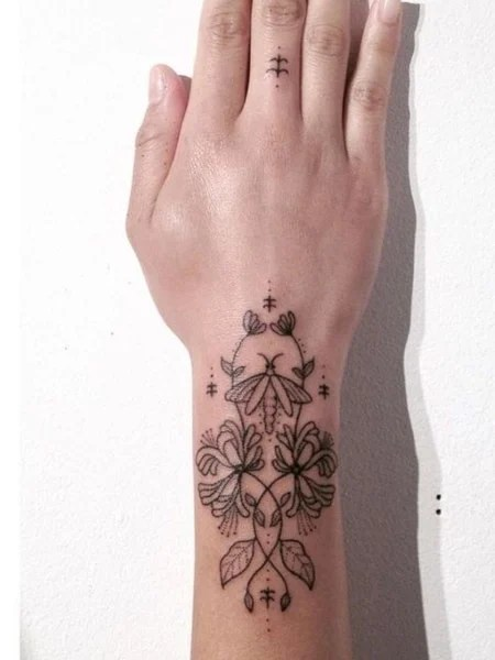 Arm Stick And Poke Tattoo