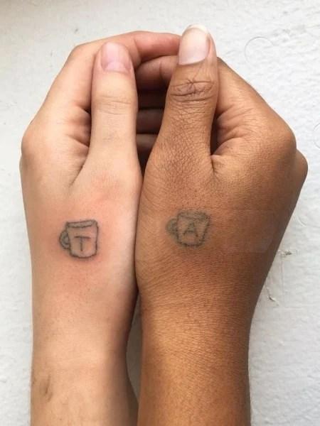Best Friend Stick And Poke Tattoo