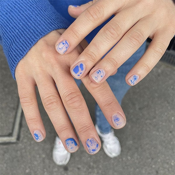 Line Art Nail Ideas Yeswhatnails
