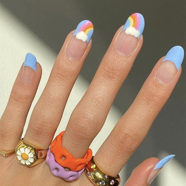 Rainbow Tips Nail Ideas Laurenladnier