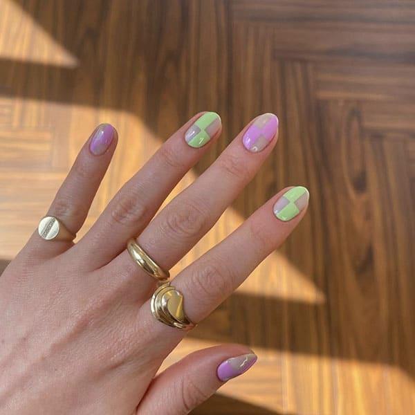 Trendy Checks Nail Ideas Frecklepusnails