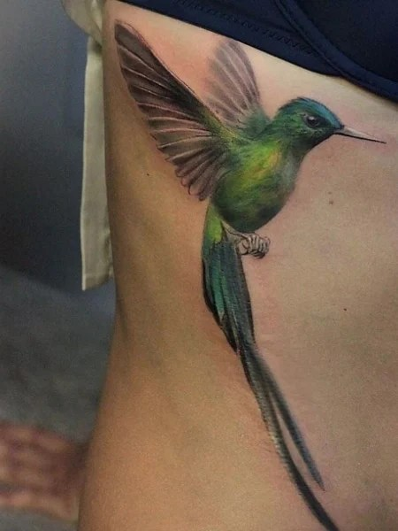 3d Hummingbird Tattoo