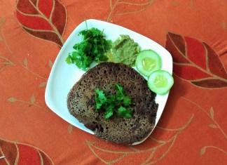 ragi-dosa-with-pudhina-chutney