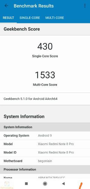 Mediatek helio g90t basemark benchmarks