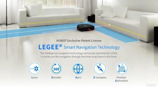 Hobot Leegee 688 sensors