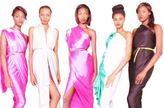 Winners of Nigeria's Next Super Model. From left, Claudia (2010), Aisha (2009), Eunice (2007), Imade (2011), and Bunmi Ademokoya (Runner up, 2007)