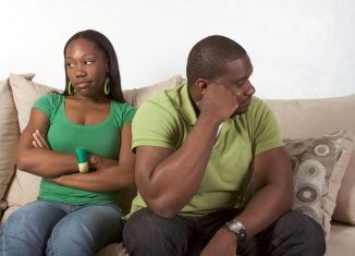 cheating couple money fight