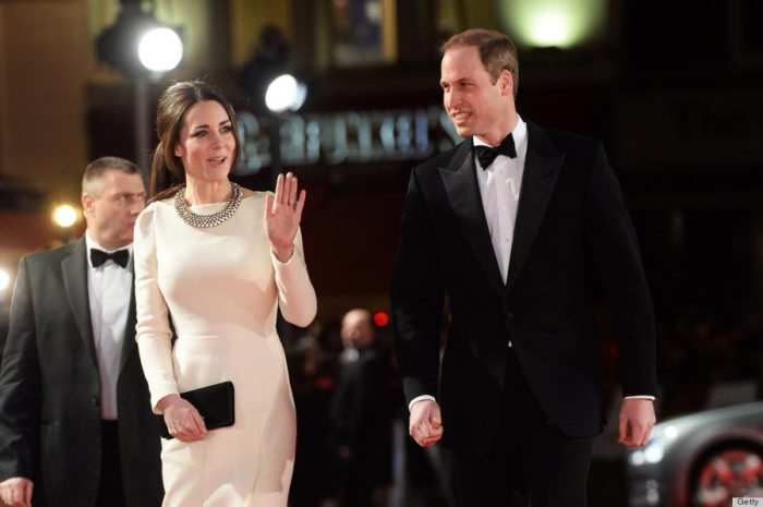 Kate Middleton and Prince William attend the premiere of