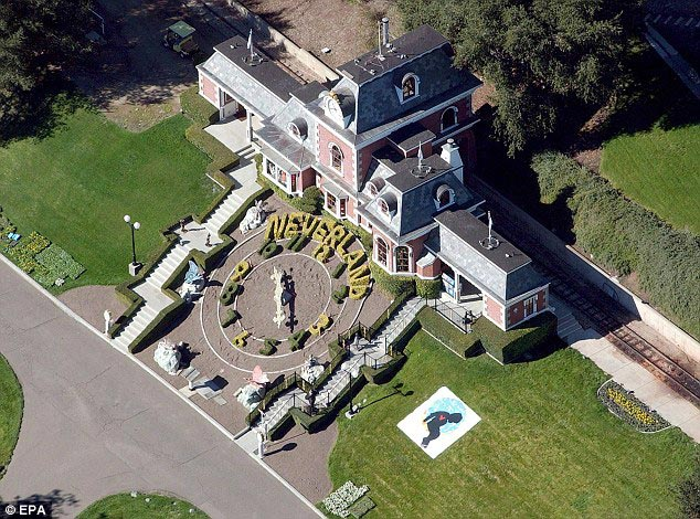 Ariel view of Michael Jackson's home, The Neverland Ranch
