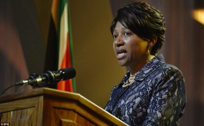 Eulogy: Mandela's granddaughter Nand takes to the podium to pay her tributes to the leader Eulogy: Mandela's granddaughter Nand takes to the podium to pay her tributes to the leader