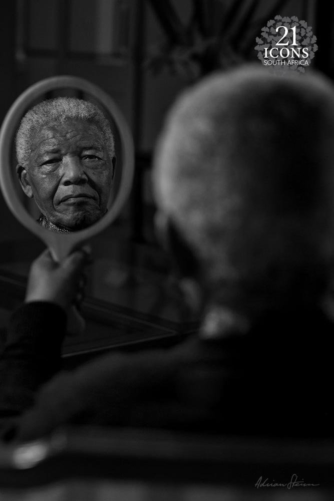 Mandela in mirror