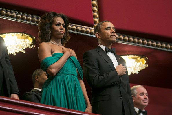 Michelle Obama Kennedy 2013