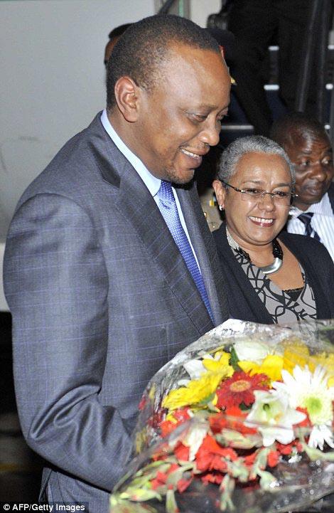Kenya's President Uhuru Kenyatta also arrived on Monday night