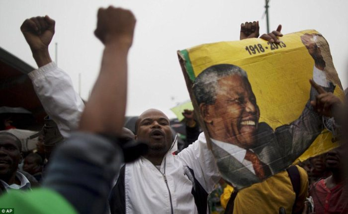 Hero: Mandela's death has united South Africa in mourning for the past five days